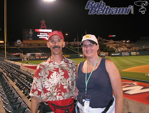 Trish and I at the Anaheim Angels